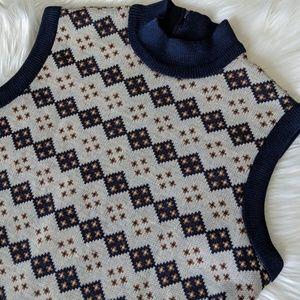 Vintage Diamond Knit Top